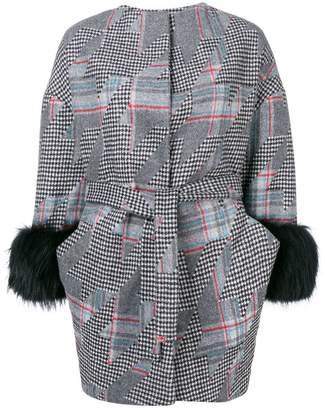 Ava Adore checkered midi coat