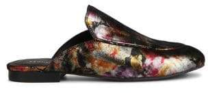 Kenneth Cole New York Wallice Metallic Leather Mules