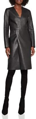 BCBGMAXAZRIA Faux Leather Shift Dress