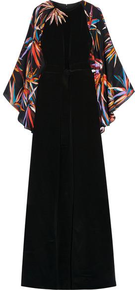 Emilio Pucci - Embellished Silk Gown - Black