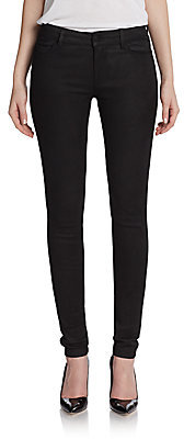Vince Embossed Leather Skinny Jeans