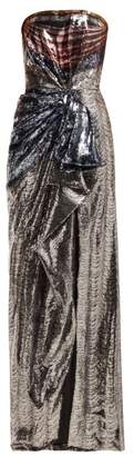Mary Katrantzou Consort Strapless Sequinned Gown - Womens - Multi