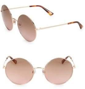 Web 58MM Round Sunglasses