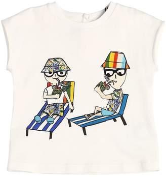 Dolce & Gabbana Designers Print Cotton Jersey T-Shirt