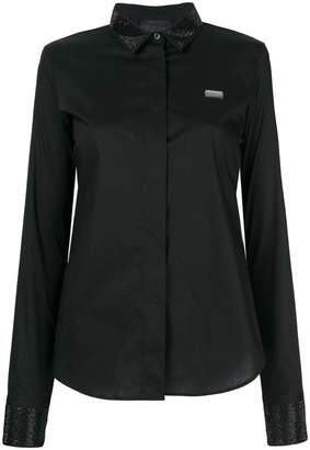 Philipp Plein embellished collar shirt