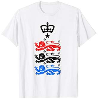 b7716abab England 2018 Cheer Jersey - Three Heraldic Lions T-Shirt. Amazon.com ...