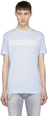 DSQUARED2 Blue Fade Dyed Bad Scout Logo T-Shirt