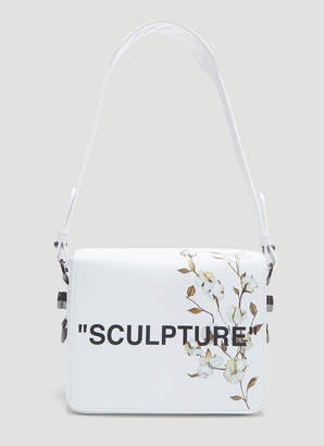 Off-White Off White Sculpture Flower Flap Bag in White