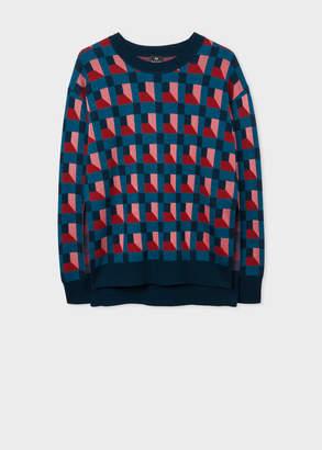 Paul Smith Women's Geometric-Jacquard Knitted Sweater