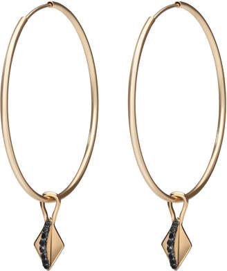 Gillian Steinhardt 14k Gold Harlequin Drop Hoop Earrings