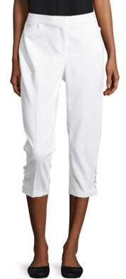 Rafaella Petite Petite Patterned-Cuff Cropped Pants