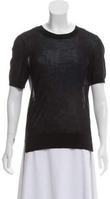 Burberry Cashmere Semi-Sheer Top Black Cashmere Semi-Sheer Top