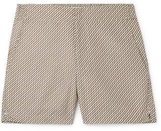Pepe Slim-Fit Mid-Length Printed Swim Shorts