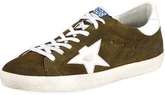 Golden Goose Men's Star Suede Sneakers, Olive