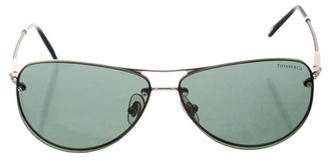 Tiffany & Co. Metallic Aviator Sunglasses
