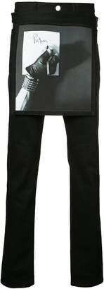 Raf Simons X Robert Mapplethorpe printed apron slim-fit jeans