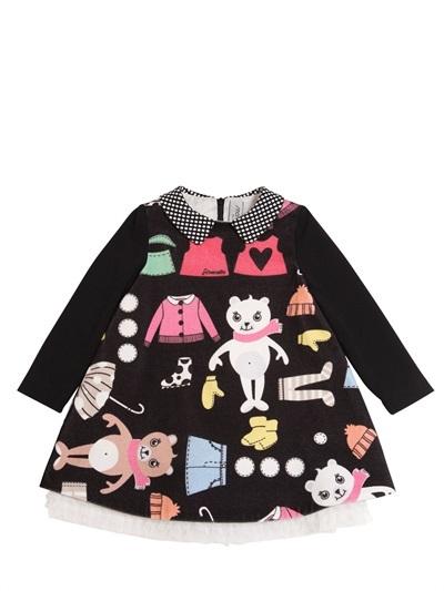 Simonetta Printed Cotton Velvet Dress
