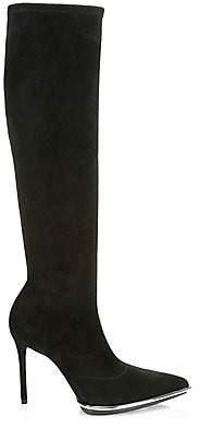 Alexander Wang Women's Cara Suede Point Toe Knee-High Boots