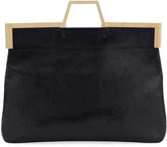 Fendi Shine Large Leather Tote Bag