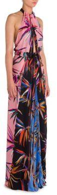 Emilio Pucci Silk Patchwork Gown