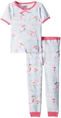 Mud Pie Mermaid Short Sleeve Pajama Set Girl's Suits Sets