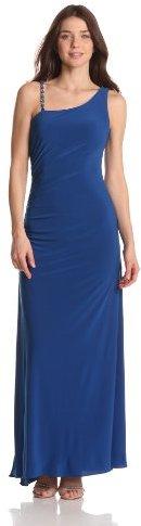 Adrianna Papell Women's Dresses Jersey Cutout Back Dress