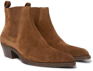 Saint Laurent Dakota Brushed-Suede Chelsea Boots - Men - Tan