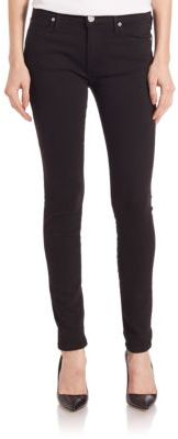 True Religion Halle Mid-Rise Super Skinny Jeans $159 thestylecure.com