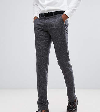 Farah Smart TALL Skinny Wedding Suit Pants In Fleck