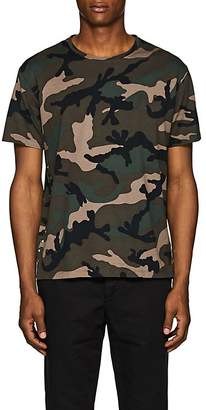 Valentino Men's Studded Camouflage Cotton T-Shirt