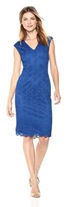 Adrianna Papell Women's Jade LACE Sleeveless MIDI Sheath Dress