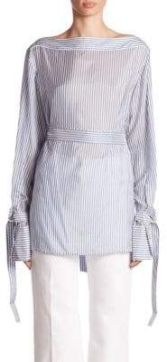 Calvin Klein Collection Keith Bis Belted Stripe Shirt