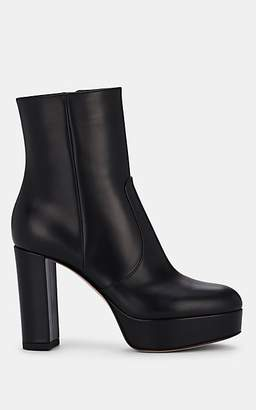 Gianvito Rossi Women's Dominique Leather Platform Ankle Boots - Black