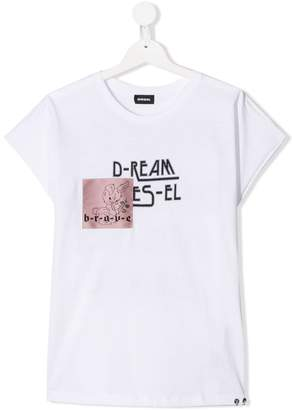Diesel TEEN patched T-shirt