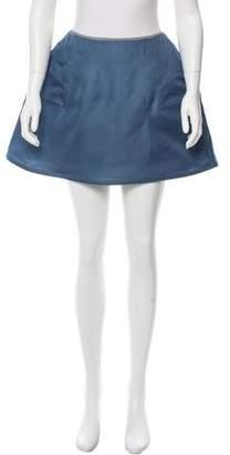 Chanel Structured Silk Skirt
