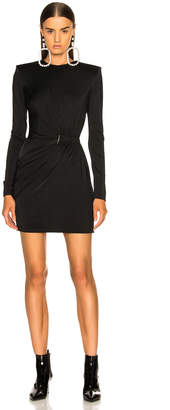 Thierry Mugler Fluid Jersey Long Sleeve Mini Dress