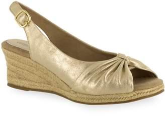 Easy Street Shoes Monica Women's Slingback Peep-Toe Espadrilles