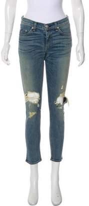 Rag & Bone Mid-Rise Wide-Leg Pants