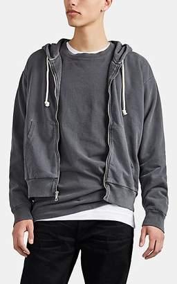 John Elliott Men's Thermal-Lined Cotton Zip-Front Hoodie - Black