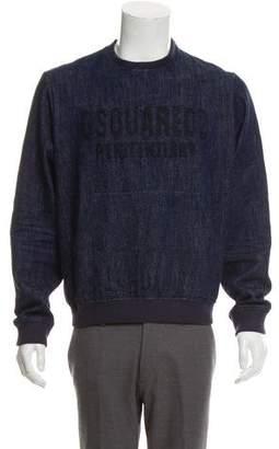 DSQUARED2 Penitentiary Denim Sweatshirt