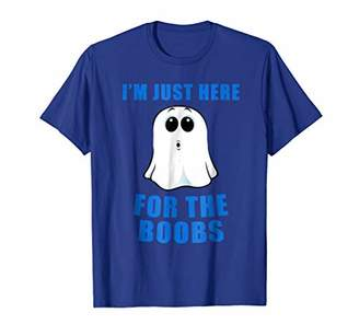Just Here For the Boos Boob Ghost Mens Halloween Shirt