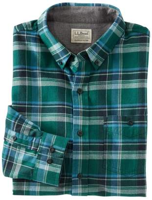 L.L. Bean L.L.Bean Men's Lakewashed Flannel Shirt, Slightly Fitted Plaid