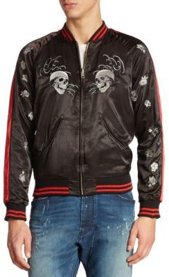 Diesel Embroidered Bomber Jacket $348 thestylecure.com