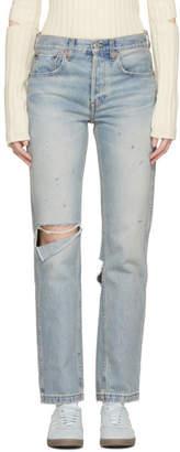 RE/DONE Blue Originals Grunge Straight Jeans