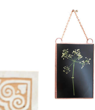 Paly Glass Glass Pressed Flower Hanging Frame
