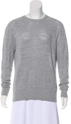 AllSaints Open Knit Crew Neck Sweater