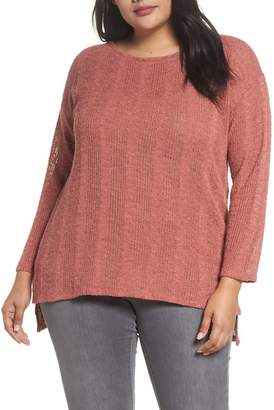 Vince Camuto Drop Needle Sweater (Plus Size)