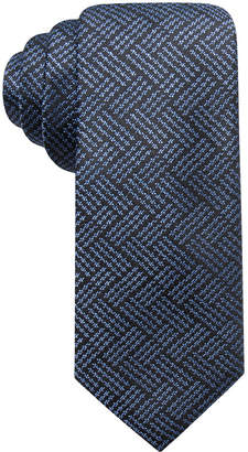 Alfani Men Plaid Slim Silk Tie