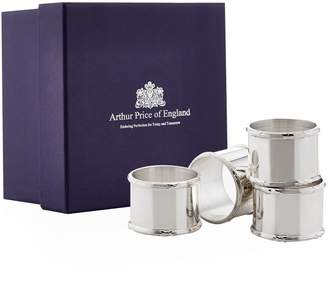 Arthur Price Of England Reed and Ribbon Napkin Rings (Set of 4)