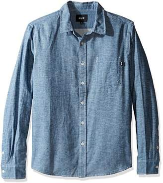 HUF Men's Course Long Sleeve Chambray Shirt